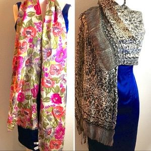 Express 100% silk scarf and unbranded silk scarf